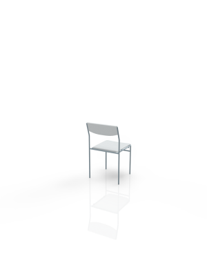 40/4 - Chair white, leatherlook