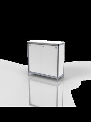 Bern - Counter white, lockable