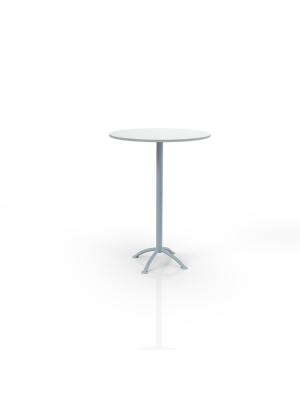 Sea 110 - Bar table with white top Ø 80cm
