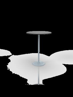 Albaredo 110 - Bar table with black top Ø 80cm